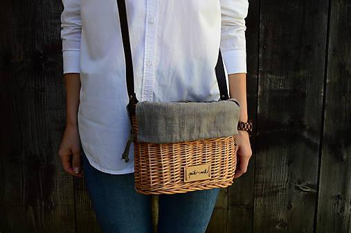 Prútená kabelka na rameno N°4