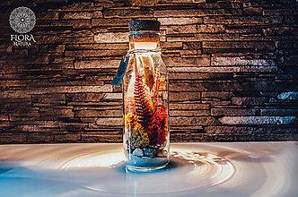 """Svietidlá a sviečky - Dekoračná lampa """"Babie leto"""" - 11099391_"""