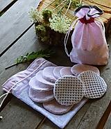 Úžitkový textil - Sada odličovacích tampónov (10 ks + 2 vrecká) - 11099415_