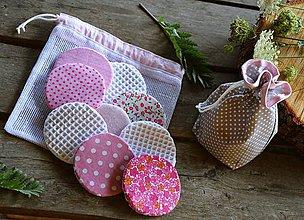 Úžitkový textil - Sada odličovacích tampónov (9 ks + 2 vrecká) - 11099384_