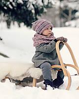 Detské čiapky - Sněhová královna - čepice Růžová mlha - 11101453_