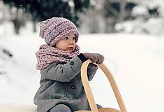 Detské čiapky - Sněhová královna - čepice Růžová mlha - 11101454_
