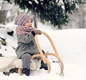 Detské čiapky - Sněhová královna - čepice Růžová mlha - 11101455_