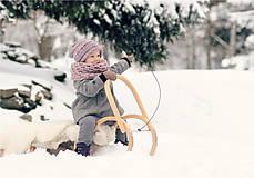 Detské čiapky - Sněhová královna - čepice Růžová mlha - 11101456_