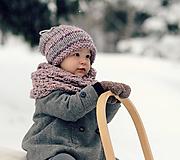 Detské čiapky - Sněhová královna - čepice Růžová mlha - 11101457_