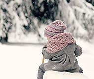 Detské čiapky - Sněhová královna - čepice Růžová mlha - 11101458_