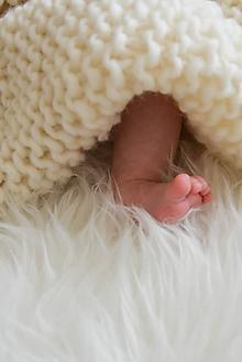 Textil - .detská deka (100% vlna) prírodná biela - 11099066_