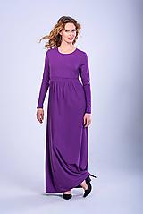 Šaty - Dlhé šaty s gombíčkom - 11101347_