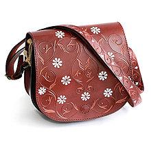 Kabelky - Kožená kabelka ALEXANDRA - 11098428_