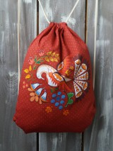 Batohy - Červený vak na chrbát - 11099598_