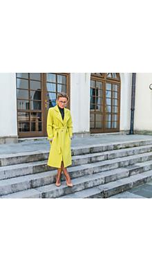 Kabáty - Neónový jesenný kabát - 11101055_