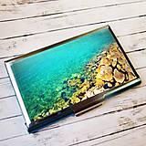 Iné doplnky - púzdro na vizitky Morské pobrežie - 11099952_