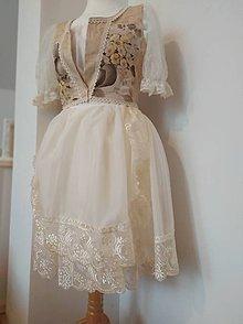 Šaty - Folklorna sviatočná súprava - 11100391_