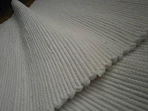 Úžitkový textil - tkany koberec biely - 11101947_