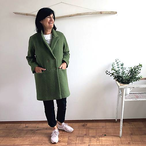 girlfriend coat .úplne celý vlnený
