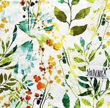 Papier - S1438 - Servítky - akvarel, listy, jeseň - 11103303_