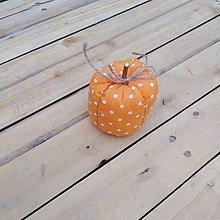 Dekorácie - tekvička (Oranžová bodka) - 11101635_