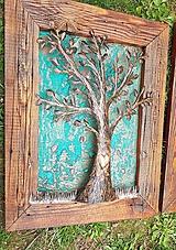 Obrázky - Tepaný strom v ráme zo starého dreva - 11104299_