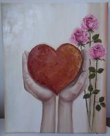 Obrazy - Srdce pre Teba - 11104594_