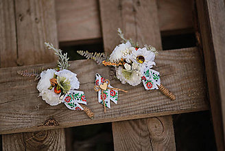 Pierka - Folk svadobné pierko pre hostí - 11104565_