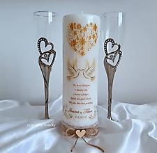 Svietidlá a sviečky - Svadobná sviečka - 11102646_