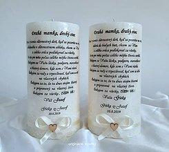 Svietidlá a sviečky - Svadobný darček ako poďakovanie - 11102728_