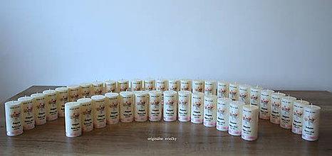 Svietidlá a sviečky - Svadobné darčeky aj ako menovky - 11102850_
