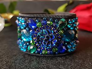 """Náramky - Luxusný  náramok ,, Smaragd ukrytý v tme """" - 11104481_"""