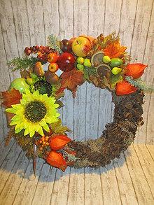 Dekorácie - Jesenný veniec - 11104886_