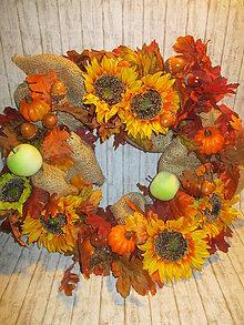 Dekorácie - Jesenný veniec - 11104942_