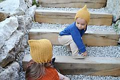 Detské čiapky - Detský čepček biovlna/biobavlna - 11104836_