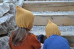 Detské čiapky - Detský čepček biovlna/biobavlna - 11104837_