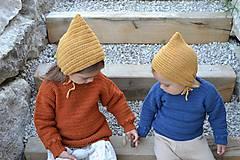 Detské čiapky - Detský čepček biovlna/biobavlna - 11104844_