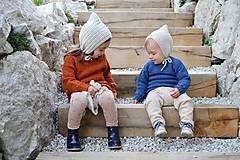 Detské čiapky - Detský čepček biovlna/biobavlna - 11104928_