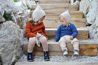 Detské čiapky - Detský čepček biovlna/biobavlna - 11104921_