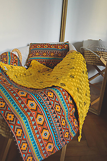 Textil - Minky deka horčicová - 11104372_