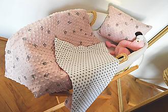Textil - Minky deka ružová - 11104388_