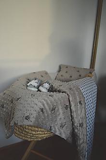 Textil - Minky deka sivá - 11104397_