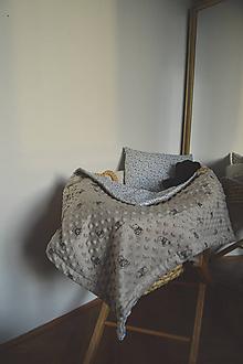 Textil - Minky deka sivá II. - 11104405_