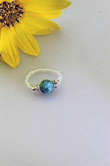 Prstene - tyrkys prsteň flexibilný - 11105066_