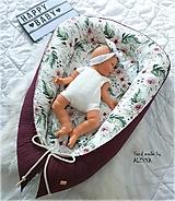 Textil - Hniezdo pre bábätko z vafle bavlny šípkova ruženka - 11104061_