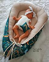 Textil - Hniezdo pre bábätko z vafle bavny so zvieratkami - 11104121_