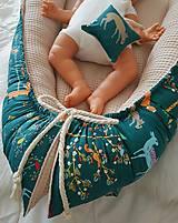 Textil - Hniezdo pre bábätko z vafle bavny so zvieratkami - 11104122_
