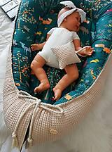 Textil - Hniezdo pre bábätko z vafle bavny so zvieratkami - 11104123_