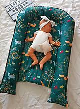 Textil - Hniezdo pre bábätko z vafle bavny so zvieratkami - 11104125_
