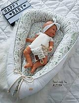 Textil - Hniezdo pre bábätko z vafle bavlny v béžovej variante +košíček - 11104133_
