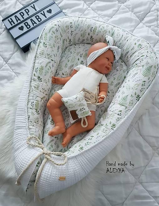 Hniezdo pre bábätko z vafle bavlny v béžovej variante +košíček