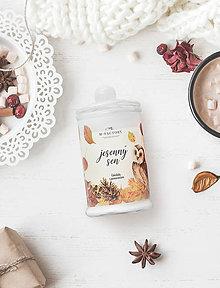 Svietidlá a sviečky - Jesenný sen - Čokoláda s pomarančom / sójová sviečka - 11104508_