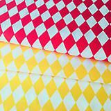Textil - kosoštvorce, 100 % bavlna, šírka 160 cm - 11101899_