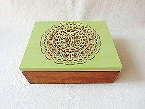 Krabičky - Drevená šperkovnica / organizér - 11104563_